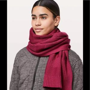 Lululemon Stamped With Love Scarf Merino Wool Red
